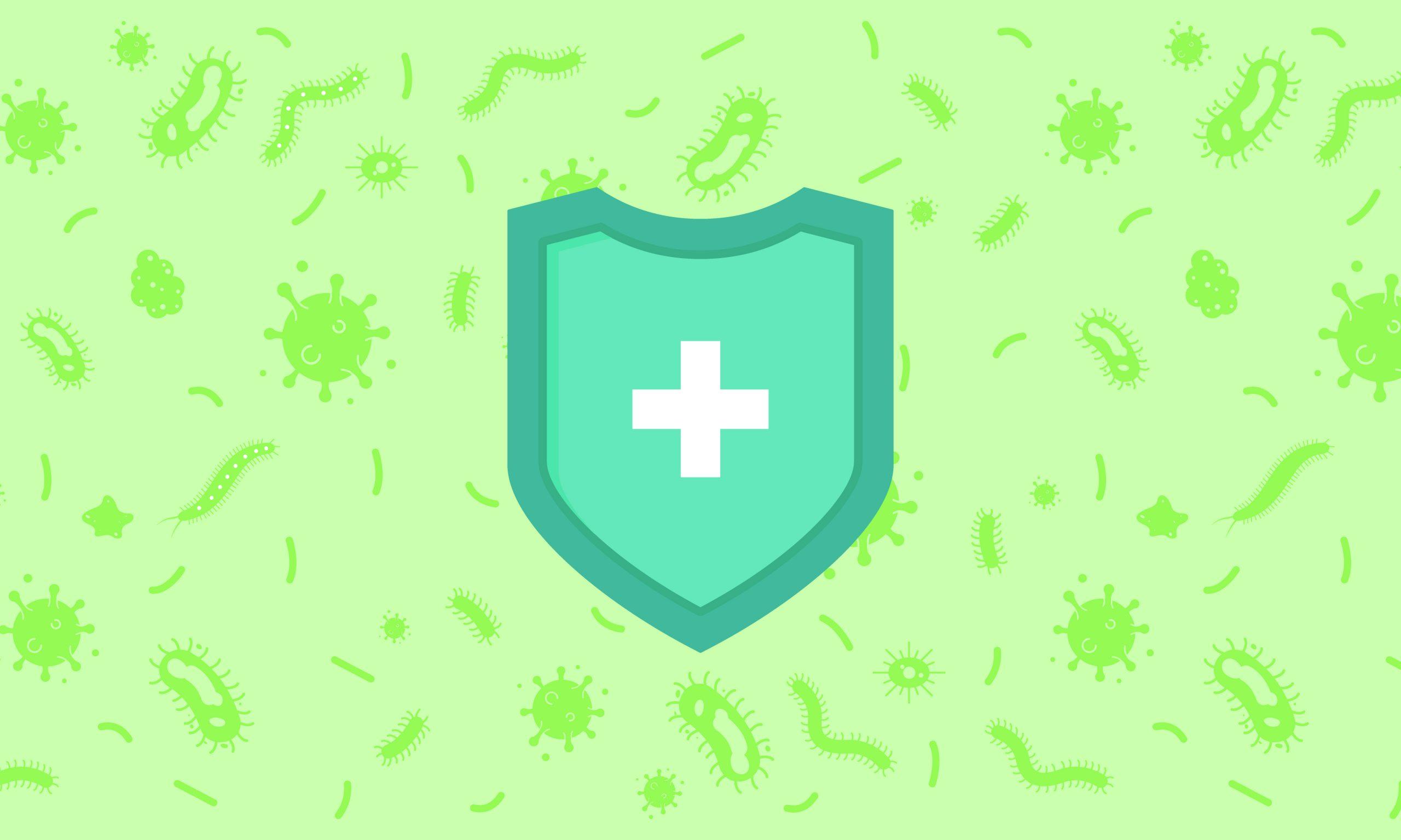 Escudo de proteção contra vírus