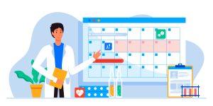 Imagem ilustrada mostrando o calendário para vacinação